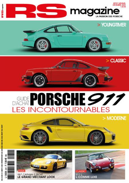 RS, magazine, numéro, 231, décembre, 2020, porsche, 911
