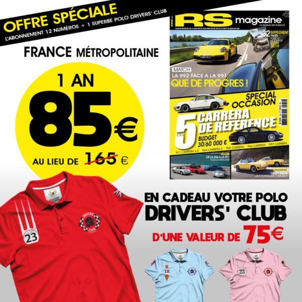 Abonnement-RS-magazine-porsche-911-polo-Drivers-club